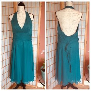 Dresses & Skirts - Emerald Green Halter Fully Lined Party Event Dress